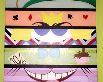 Children's Alice in Wonderland Character Painting