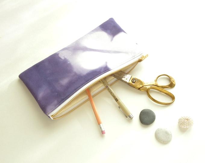 Shibori Pouch - Purple Clutch - Amethyst