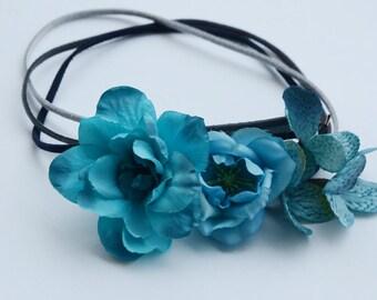flower headband - boho hairstyle
