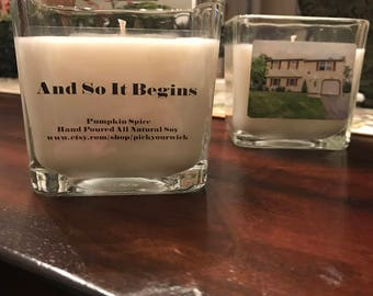 16oz Custom House Warming Candle | Custom Gift | Hand Poured | All Natural Soy