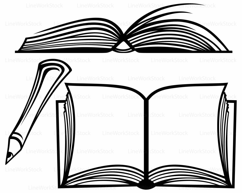 open book svg book clipart book svg open book silhouette book cricut rh etsystudio com open book clip art black and white open book clip art images