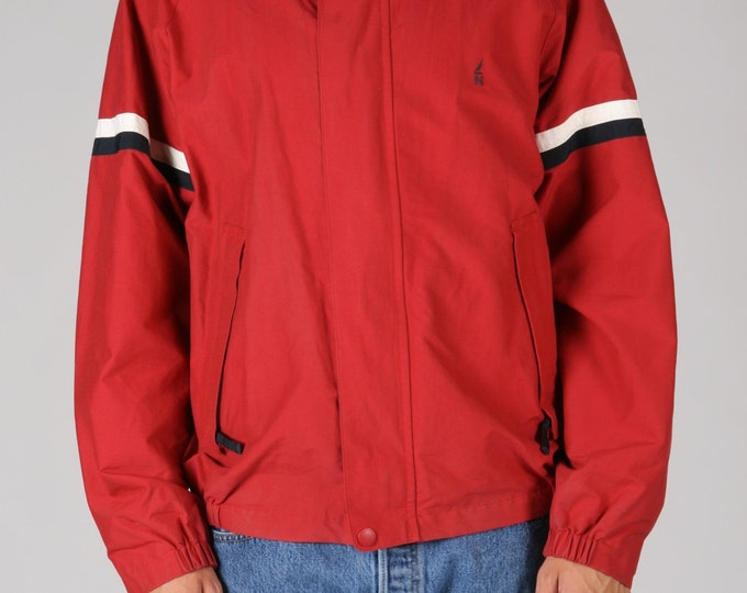 Red Nautica Windbreaker