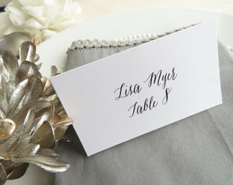 Printed Wedding Place Cards    Printed Name Card   Wedding Escort Card - Set of 28 - Style EC44 - BRANCHES COLLECTION