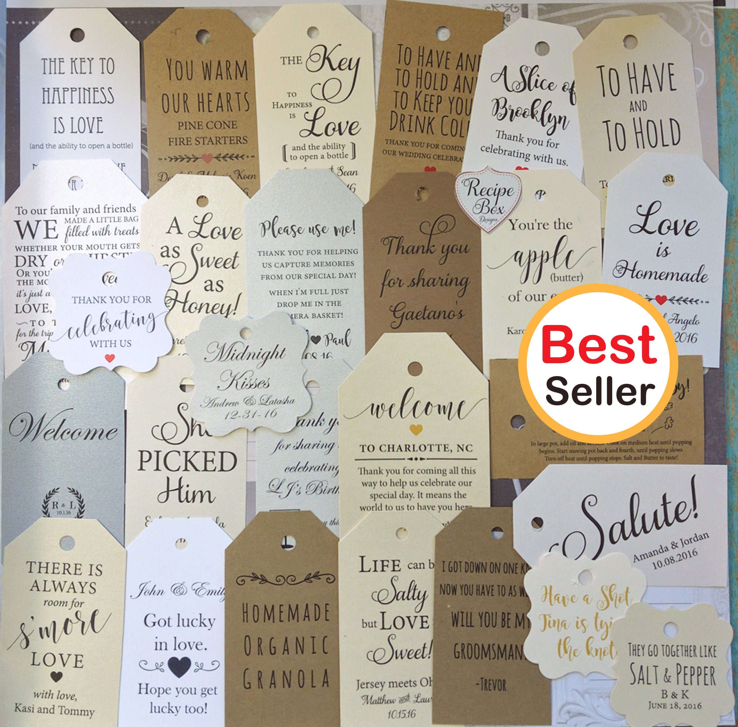 Custom favor tags, Gift Tag, Thank you favor tags, personalized ...