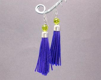 Purple Earrings, Ultra Violet, Boho Earrings, Fringe Earrings, Tassels, Long Earrings
