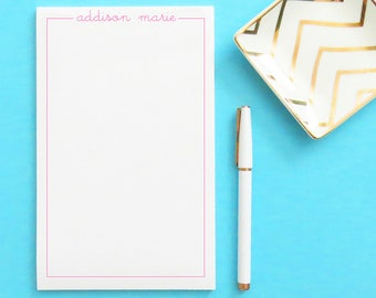 Personalized Stationery Notepad for girls, Personalized notepad set, Simple Notepad, stationery for girls, Cute stationary notepad, NP044