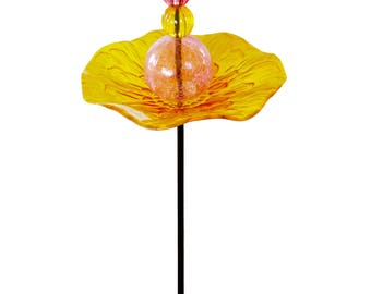 Hand blown glass art decor/feeder
