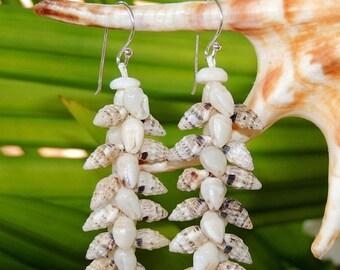 Set of 3 pairs/ 3 designs of Niihau seashell earrings #065-135-255