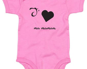 "Custom Bodysuit ""I love MOM"""