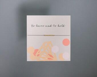 Friendship Bracelet - To have and to hold - Gold Friendship Bracelet on Silk - Grey