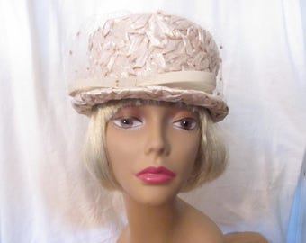 Vintage Bucket Straw Hat by Michell