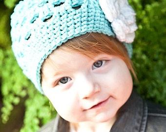 Crochet Girls Hat / Girls Beanie / Hats For Girls / Baby Girl Hat / Toddler Crochet Hat / Girls Hat / Girls Winter Hat / Crochet Baby Hat