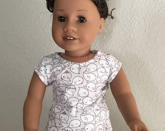 "Cap Sleeve-T fits American Girl and 18"" dolls"