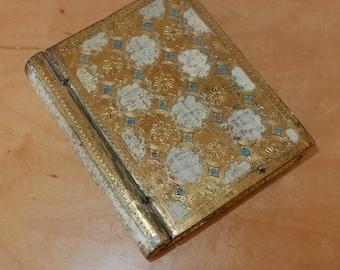 Vintage Book Safe Gold 1950s