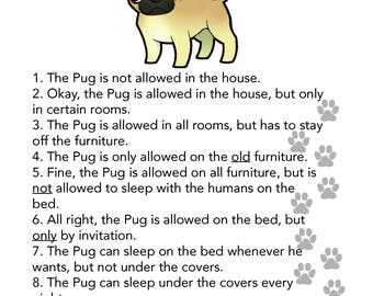 Pug's House Rules Photo