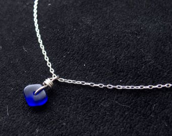Blue 'Seaglass' Necklace