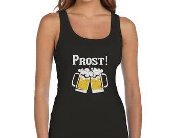 Oktoberfest - Prost Cheers German Octobeerfest Women Tank Top