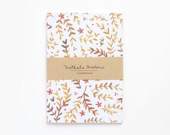 pattern journal, Pattern notebook, A6 notebook, Small notebook, small journal, small diary, pocket notebook, pocket journal, pocket diary