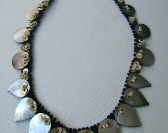 old mother of pearl handmade necklace