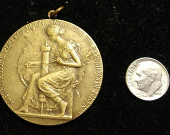 Vintage 1927 Engraver Emil Fuchs New York Times National Oratorical Contest on the Constitution of the United States Bronze Award Medallion