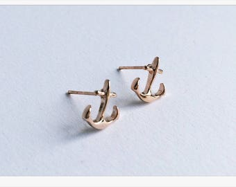 ROSÉ GOLD earrings anchor, filigree jewelry
