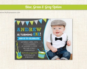 Music invitations Etsy