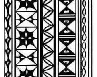 Intricate Tribal Design Clear Stamp
