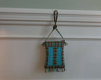 purse, bag, child, gift, Christmas gift, tween, groovy blue, fringe purse