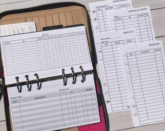 Sampler - Finance Planner Inserts