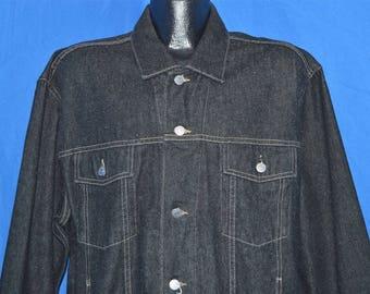 90s Guess Black Denim Jacket Extra Large
