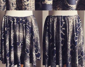 snake skin high waist short skirt