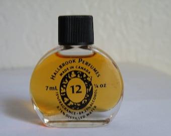 Vintage Hallbrook Perfumes # 12. 7 ml. Fluid. Made in Canada.
