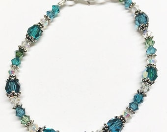 Pasithea..Turquoise Love! The PERFECT Mother's Day gift! A Genuine AB Swarovski Crystal beaded Bracelet