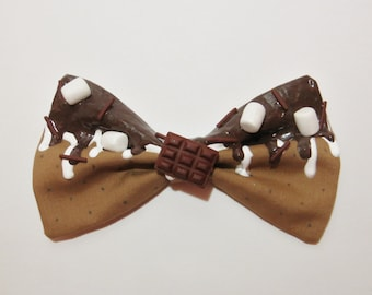Campfire S'mores Bow (Made to Order)