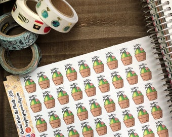 Kawaii Water the Plants Stickers/ Water the Plants Stickers/ Stickers/ Cactus Stickers/ Kawaii/ Kawaii Stickers/ Planner Stickers- S05