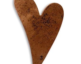 Vintaj 40x25mm Artisan Heart - Copper (2)