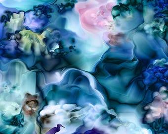 Fantasy Land Heron – Abstract Art - Original Wildlife Art - Downloadable Art Print - Instant Download – Exclusive