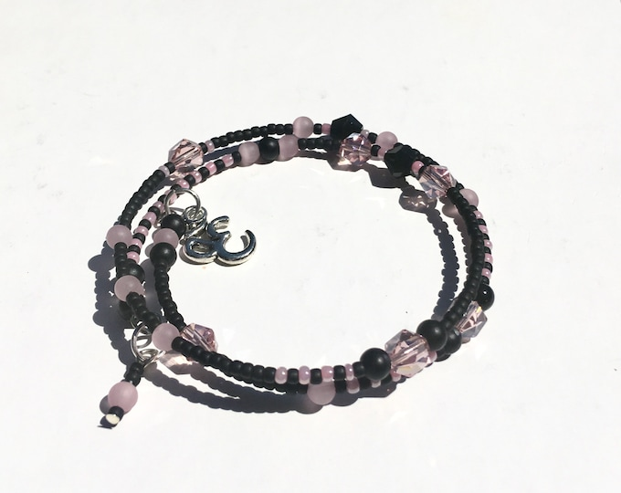 Zee-Zebra-Pink - One of a Kind Wrap Around  Memory Bracelet