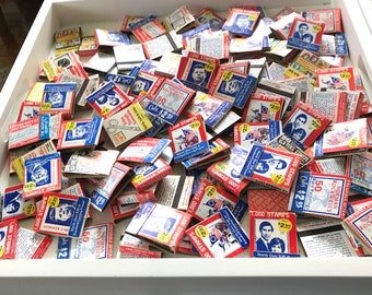 Vintage Lot 100 Matchbooks  Charles & Diana- JFK - Mickey Mouse- American Revolution