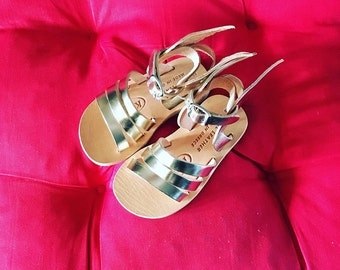Hermes sandals for kids - Natural Greek Leather sandals with wings/  Strap Sandals/ Sandals for kids/ Sandals with wings/ Baby sandals