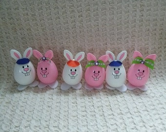 Decorated Plastic Bunny Eggs/2 for 1.00