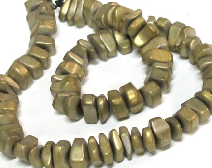 1 strand - Hematite nugget beads matte Bronze gold color gemstone Beads - GM151K
