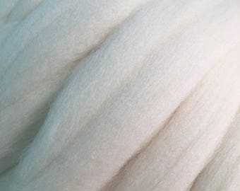 Merino Wool Roving - Not Quite White - 1 oz.