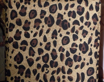 Ready To Ship Fabric Tissue Cover - Brown - Tan  and Black  Animal Print  Pattern - Tissue Box Cover