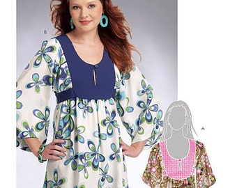 Clearance!!!! McCalls M5808 Misses Tunic in two different styles. Size 6-14. Pattern is new and uncut.  Out of Print.