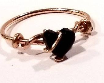 My onyx lil heart ring