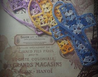 Crochet Cross Bookmark/Crochet Cross/Bookmark/Baptism Gift/Baptism/First Communion/CROSS Bookmark/VINTAGE Cross Bookmark