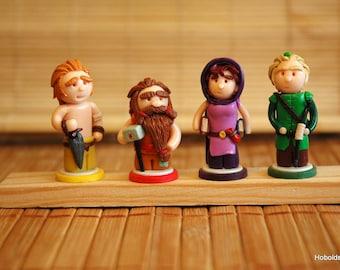 Magic Maze - handmade mepples replacement, figurines, minis, tokens, boardgame