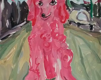 Pink Poodle in the City