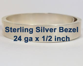 "24ga x 1/2"" Sterling Silver Bezel Wire - Choose Your Length"